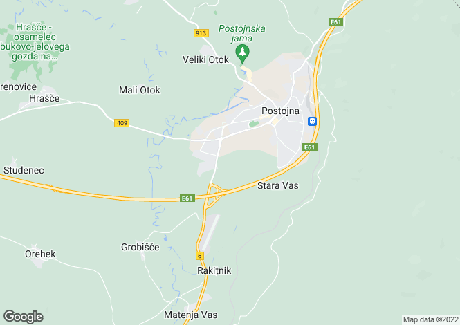 Map for Postojna, Postojna