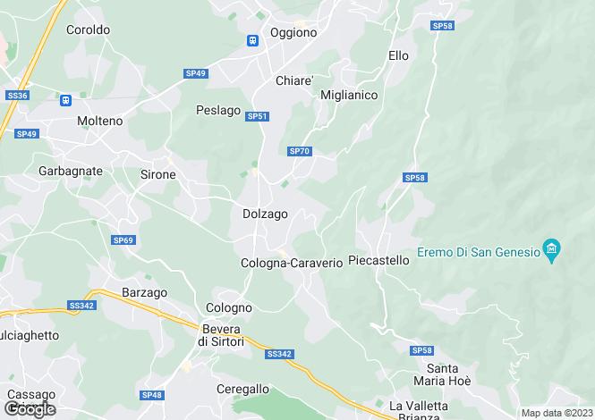Map for Castello di Brianza, Lecco, Italy