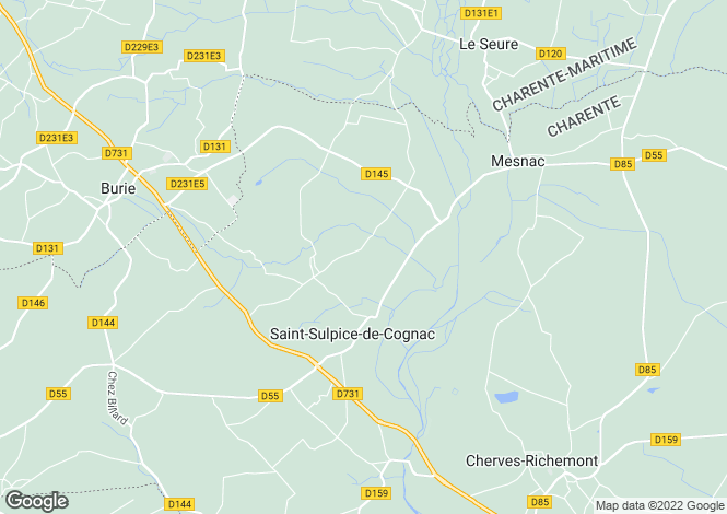 Map for st-sulpice-de-cognac, Charente, France