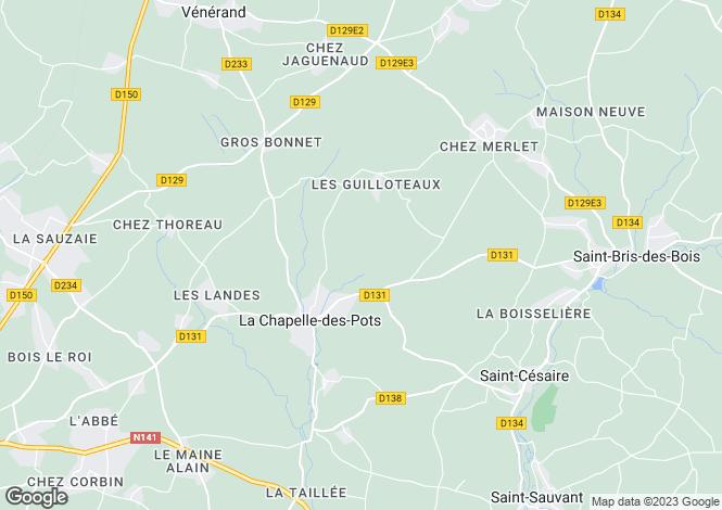Map for La Chapelle-des-Pots, Charente-Maritime, Poitou-Charentes