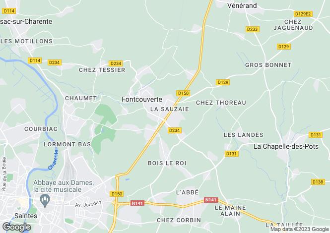 Map for fontcouverte, Charente-Maritime, France