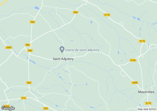 Map for st-adjutory, Charente, France