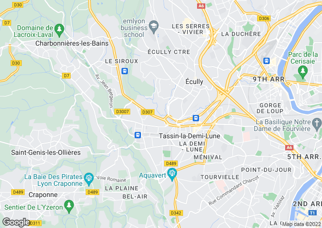 Map for Écully, 69130, France