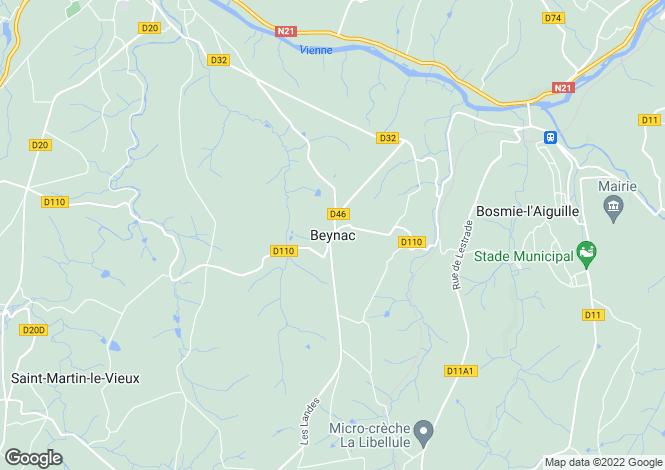 Map for Secteur: Beynac, Dordogne