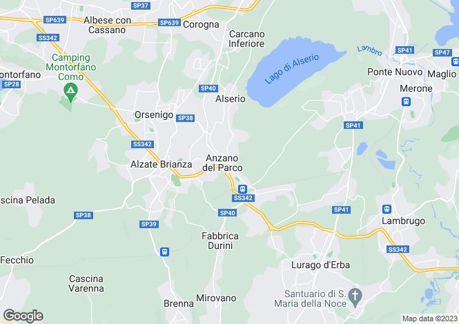 Map for Monticello, Como, Italy