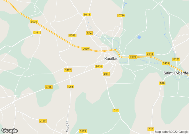 Map for rouillac, Charente, France