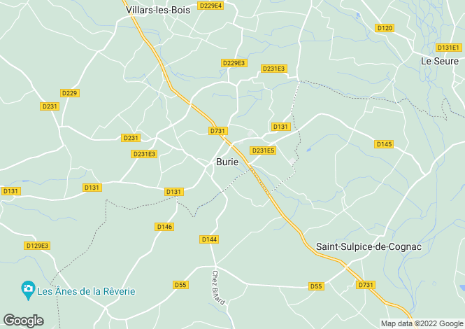 Map for Poitou-Charentes, Charente-Maritime, Burie