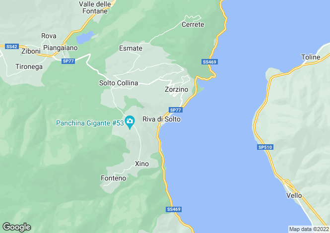 Map for Riva di Solto, Bergamo, Lombardy