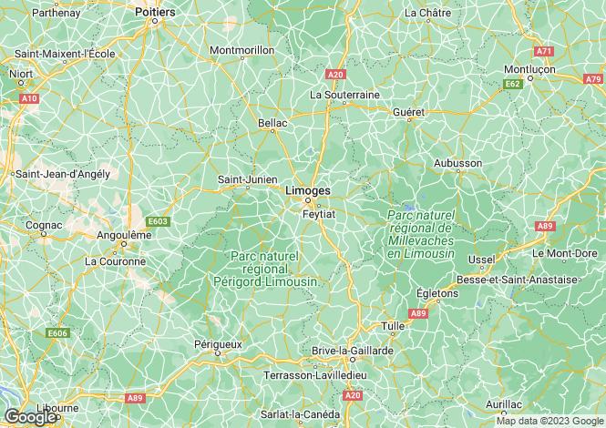 Map for Limousin, Haute-Vienne