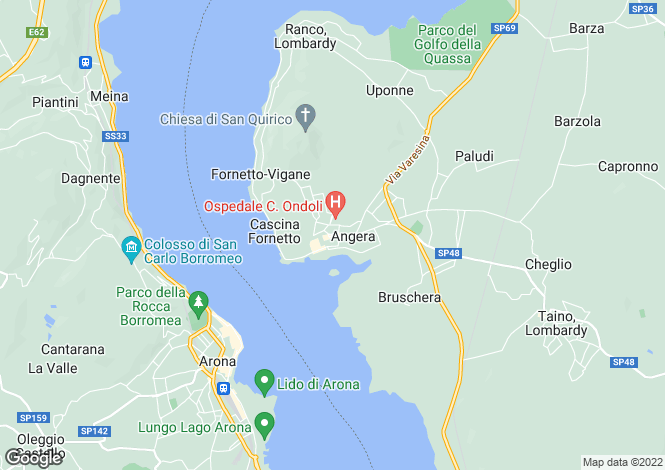 Map for Lombardy, Varese, Angera