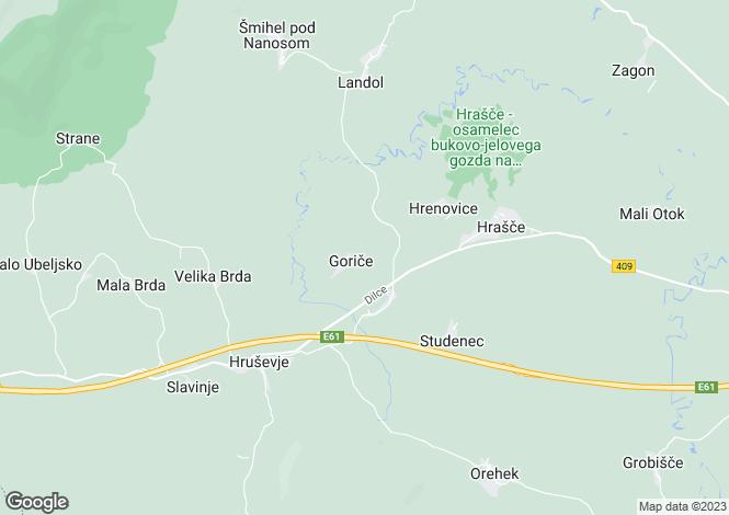 Map for Razdrto, Postojna
