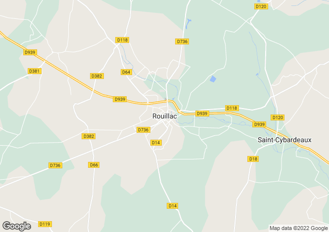 Map for Secteur: Rouillac, Charente