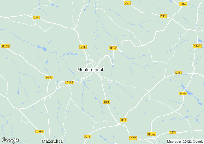 Map for montemboeuf, Charente, France