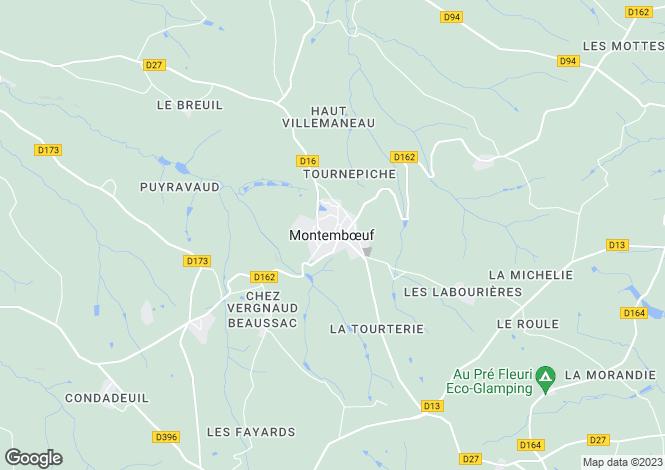 Map for Secteur: Montembœuf, Charente