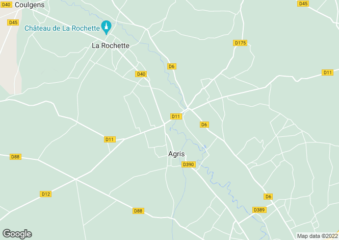 Map for agris, Charente, France