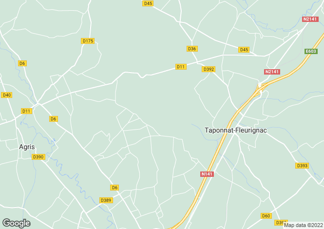 Map for taponnat-fleurignac, Charente, France