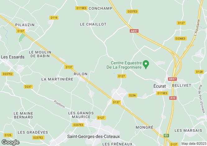 Map for Poitou-Charentes, Charente-Maritime, Boresse-Et-Martron