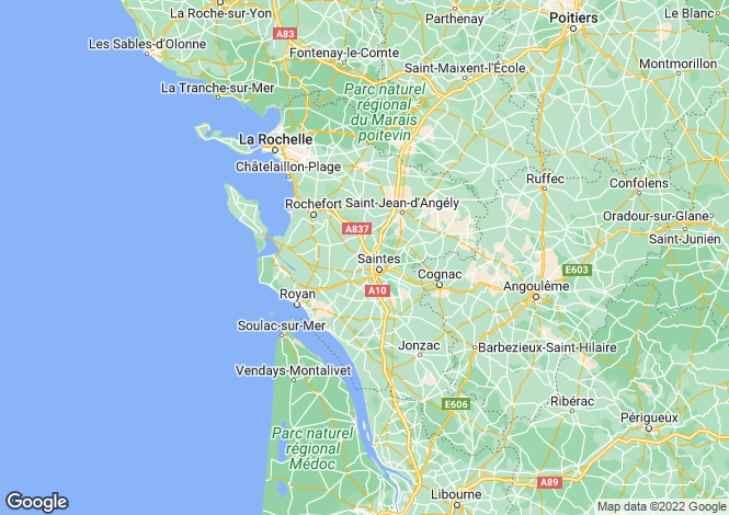 Map for jonzac, Charente-Maritime, France