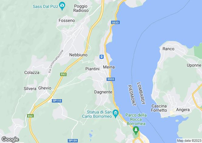Map for Piedmont, Novara, Meina