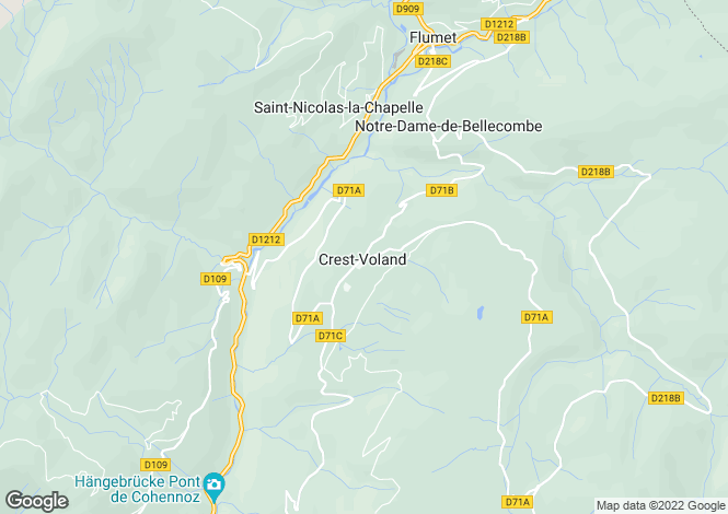 Map for Crest Voland, Haute Savoie, France, 73620
