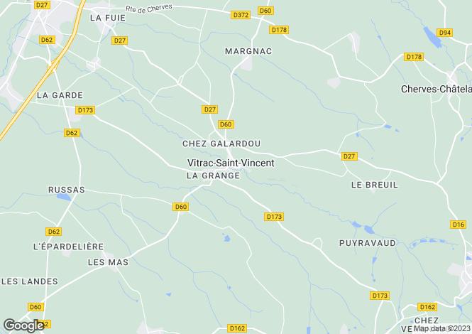 Map for Secteur: Vitrac Saint Vincent, Charente