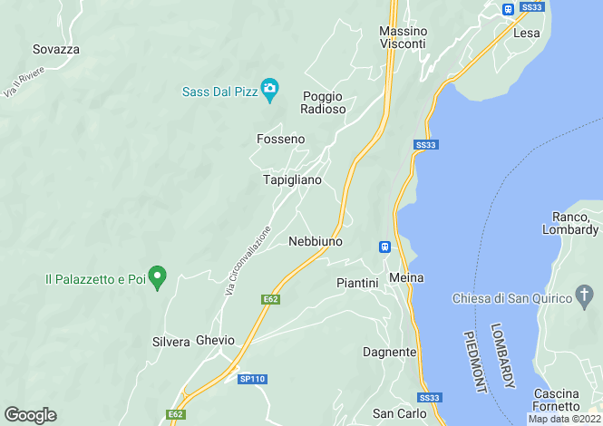Map for Piedmont, Novara, Nebbiuno