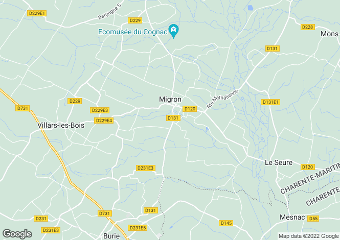 Map for migron, Charente-Maritime, France
