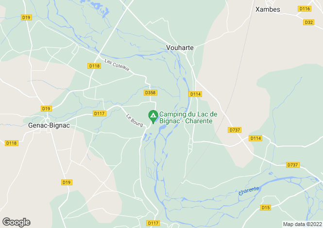 Map for bignac, Charente, France