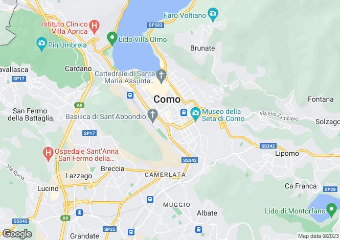 Map for Lombardy, Como, Como