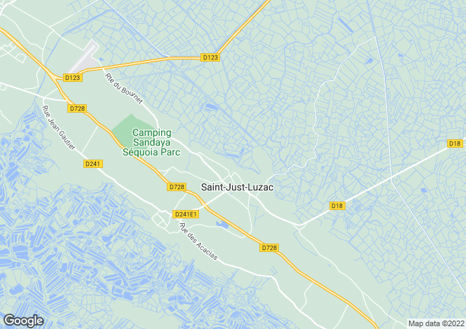 Map for st-just-luzac, Charente-Maritime, France
