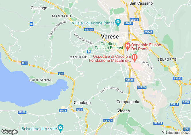 Map for Italy - Lombardy, Varese, Varese