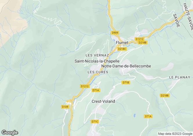 Map for Saint Nicolas la Chapelle, Haute Savoie, France, 73590