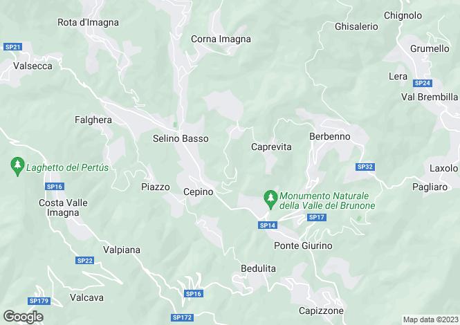 Map for Bergamo, Bergamo, Lombardy