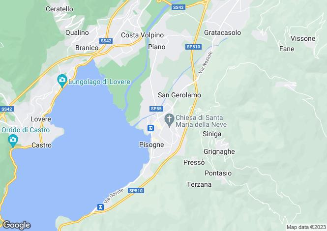 Map for Pisogne, Brescia, Lombardy