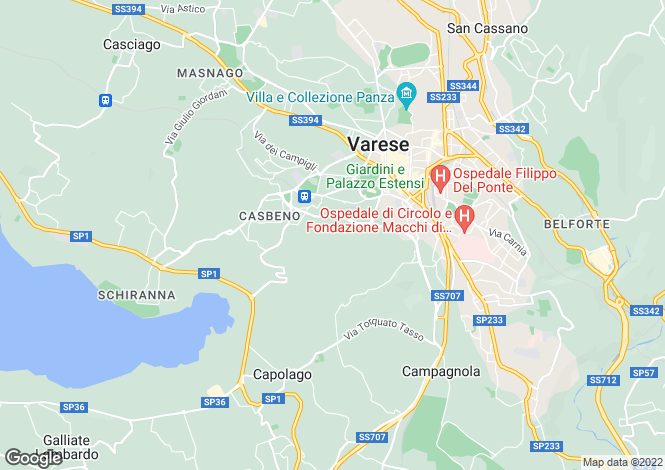 Map for Varese, Varese, Lombardy