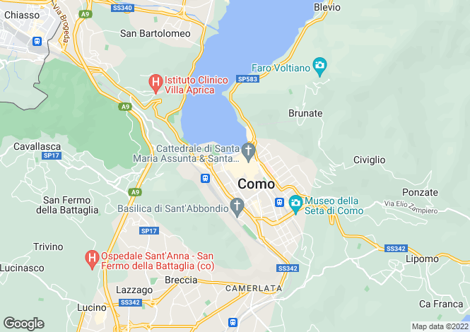 Map for Como, Como, Lombardy