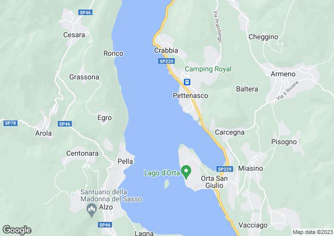 Map for Piedmont, Novara, Lake Orta
