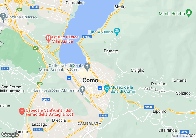 Map for Como, Como, Lombardy