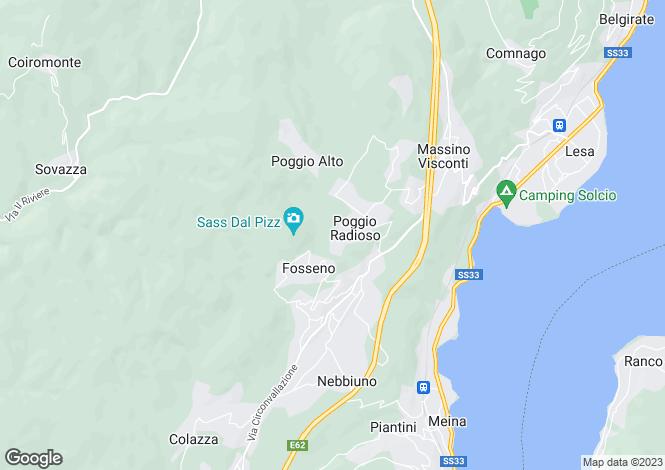 Map for Piedmont, Novara, Poggio Radioso