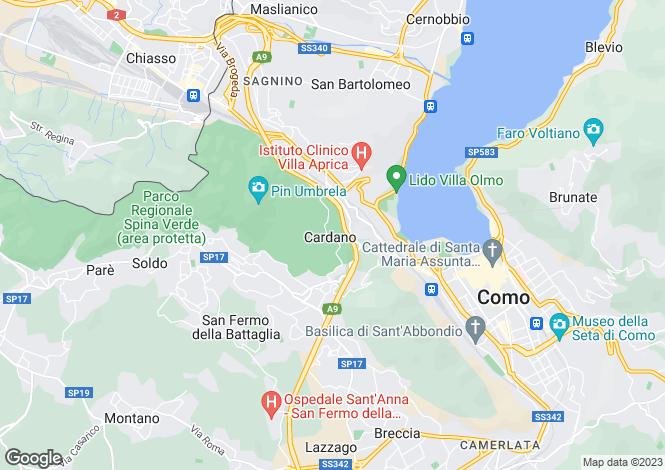 Map for Como, 22100, Italy