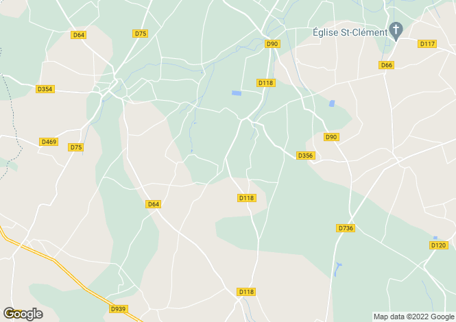 Map for montigne, Charente, France