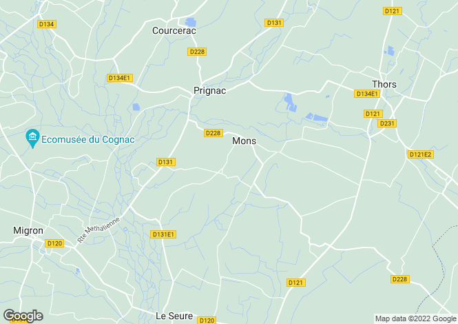 Map for mons, Charente-Maritime, France