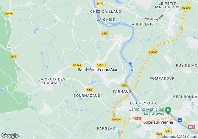 Map for st-priest-sous-aixe, Haute-Vienne, France