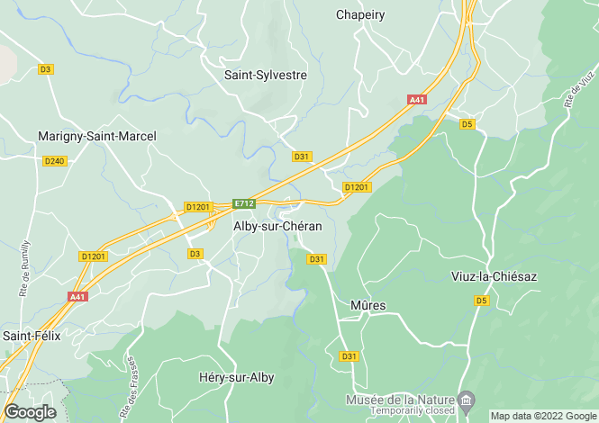 Map for Alby sur Cheran,France