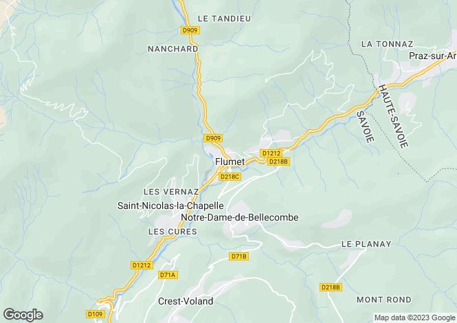 Map for Rhone Alps, Savoie, Flumet