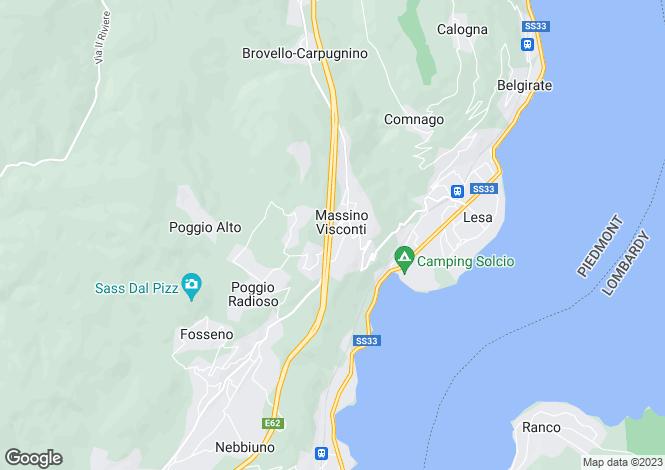 Map for Piedmont, Novara, Massino Visconti