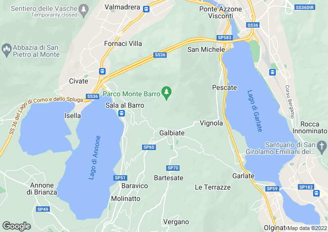 Map for Lecco, 22017, Italy