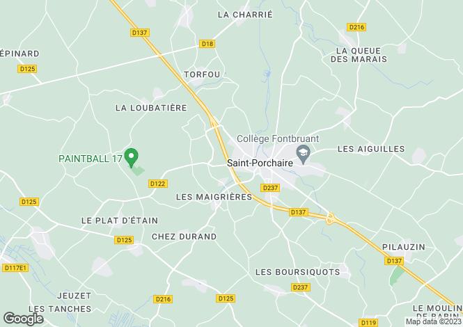Map for St-Porchaire, Charente-Maritime, Poitou-Charentes