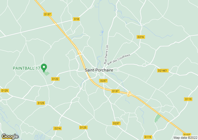 Map for Proche / Near Saint Porchaire, Charente Maritime