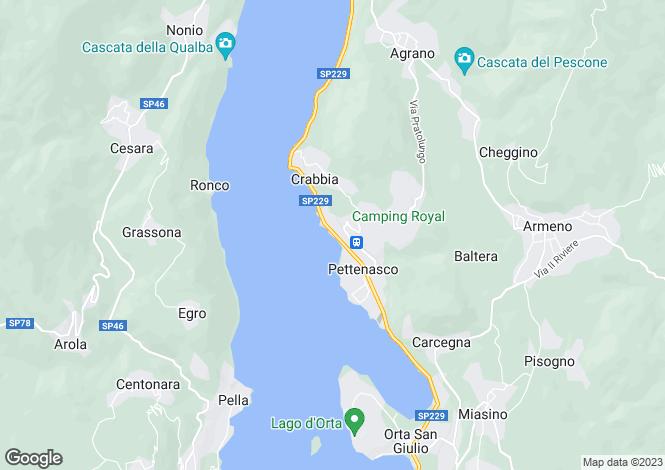 Map for Lombardy, Pettenasco